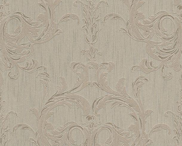 Vliestapete beige grau Barock Tessuto 96196-3