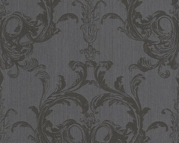 Wallpaper black ornament Tessuto 96196-6