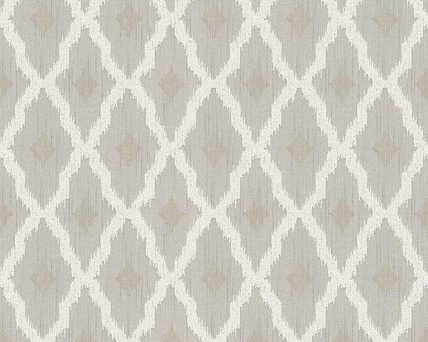 Wallpaper grey white squared Tessuto 96197-2 online kaufen