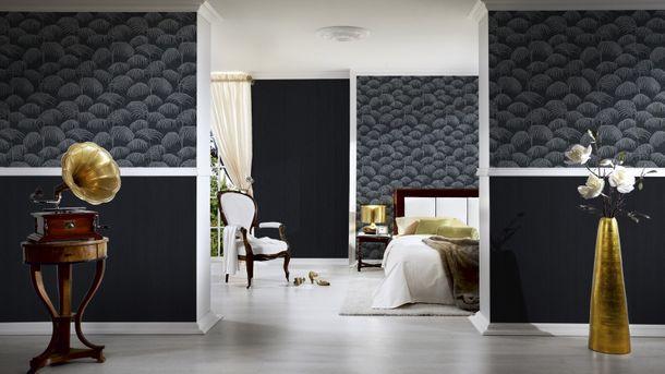 Vliestapete schwarz grau Natur Tessuto 96198-4 online kaufen