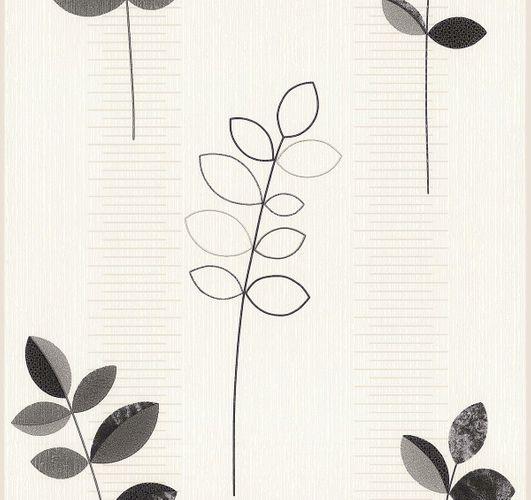 Vliestapete weiß schwarz Natur Blätter PS 13327-30 online kaufen