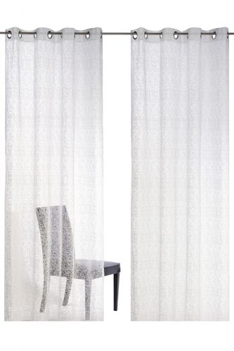 Eyelet curtain white transparent Colourful Moments 179694