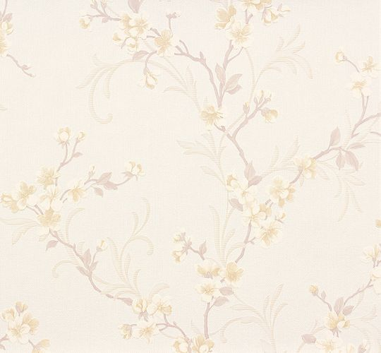 Wallpaper white rose flowers Fame Erismann 6933-21
