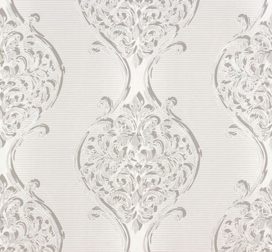 Wallpaper grey silver ornament Erismann 6948-10