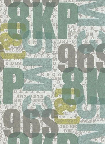 Wallpaper green graphic Make Up Erismann 6963-18