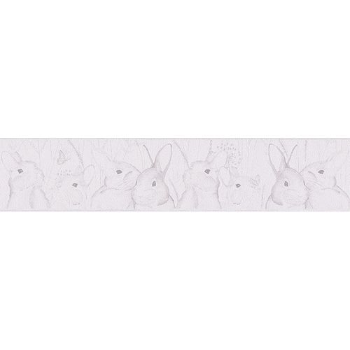 Kids wallpaper border white animal livingwalls 30330-1