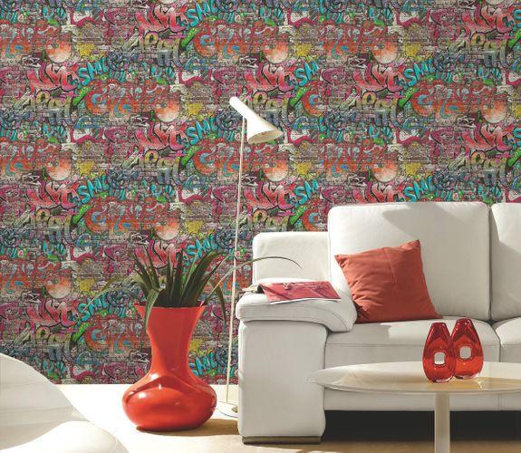 wallpaper colorful graffiti ps 05530 10. Black Bedroom Furniture Sets. Home Design Ideas
