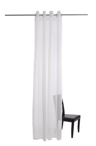 Curtain plain white semi-transparent 135x245 5792-04 online kaufen