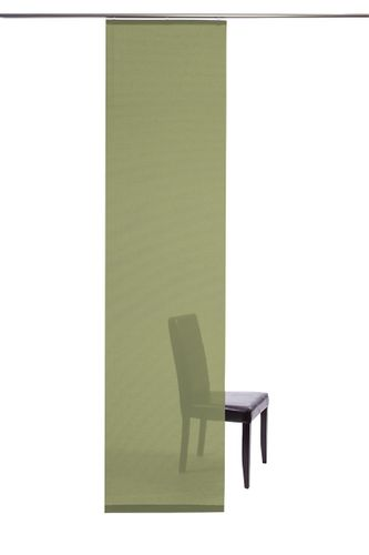 Curtain plain green semi-transparent 60x245 5840-17