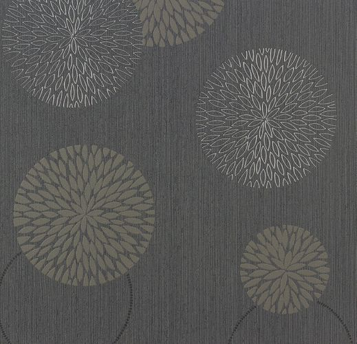 Wallpaper grey taupe flower spot as creation 93791 1 for Tapete grau