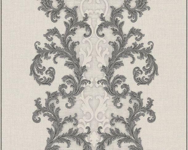 Wallpaper Versace Ornament Silver Creamwhite 96232-5