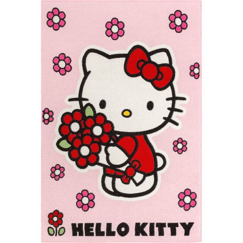 Kids rug Hello Kitty flower girls play carpet 95x133 cm