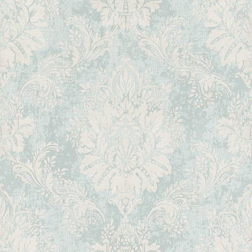 Wallpaper Baroque Ornament Pastel Glossy Turquoise 204810 online kaufen