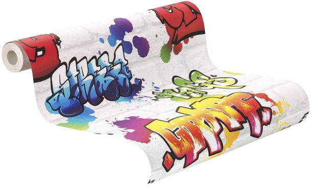 Teen's Wallpaper Graffiti Wall white Rasch 272901 online kaufen