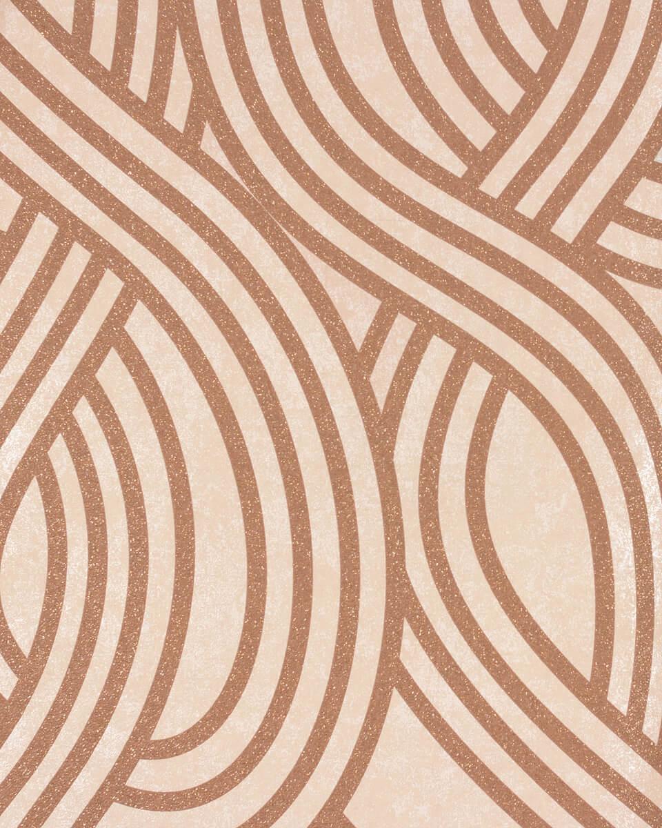 Genial Tapete Grafisch Beige Braun Glitzer Carat PS 13345 40 001