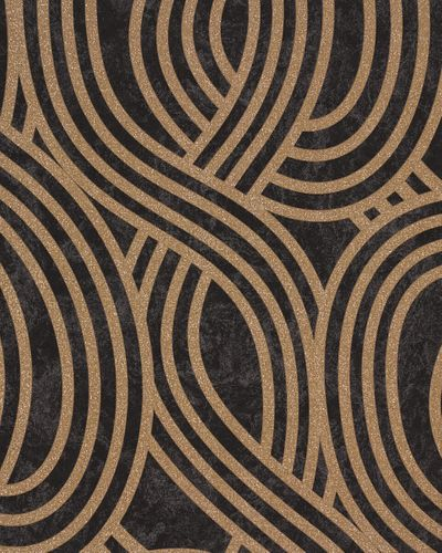 Wallpaper graphic black brown Carat 13345-80 online kaufen