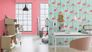 Room picture Wallpaper bb Home Passion Barbara Becker wood blue pink 479706 3