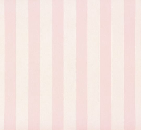 Kids Wallpaper stripes pattern white rose Rasch 246018