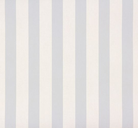 Kids Wallpaper stripes pattern blue white Rasch 246025