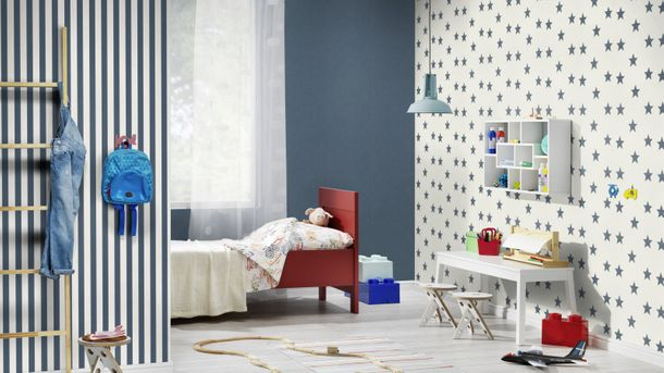 Wallpaper Plain Design Single-Colour Rasch blue 247480 online kaufen