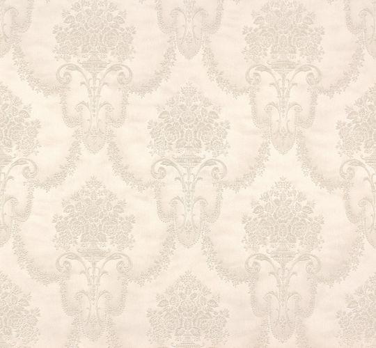 Vliestapete Rasch Trianon Barock weiß silber 514919