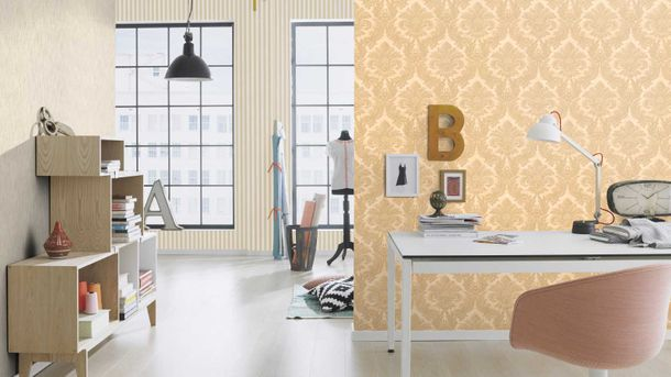Wallpaper Rasch Trianon stripes cream beige 515336 online kaufen