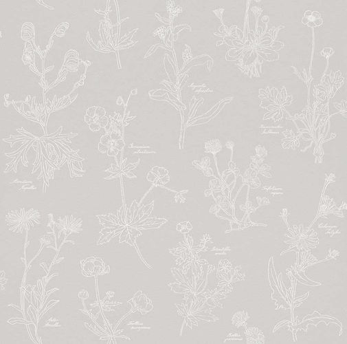 Wallpaper Rasch Freja nature grey white 897418