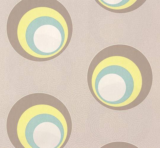 Wallpaper Nena Designer Marburg circle grey 57232 online kaufen