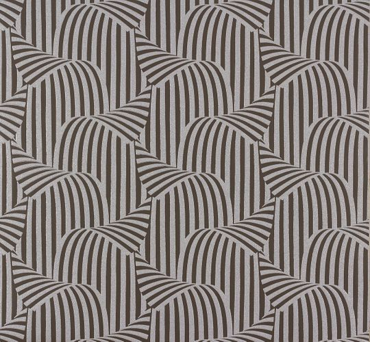 Wallpaper Nena Designer Marburg graphic brown silver 57255 online kaufen