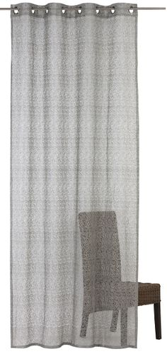 Eyelet Curtain semi-transparent Colourful textured silver grey 197865
