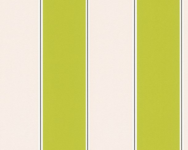 Wallpaper Michael Michalsky stripes green cream 30459-4