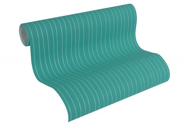 Wallpaper Esprit Home stripes turquoise white 30278-3 online kaufen
