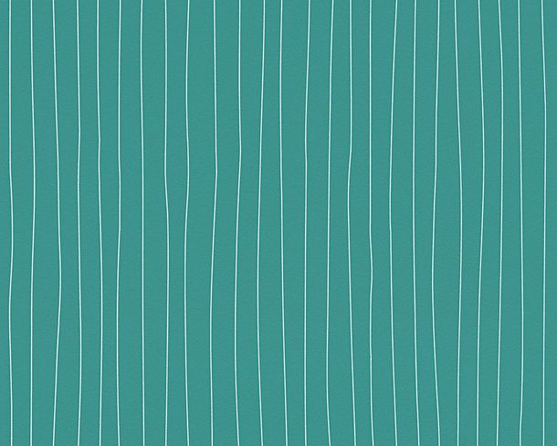 Wallpaper Esprit Home stripes turquoise white 30278-3