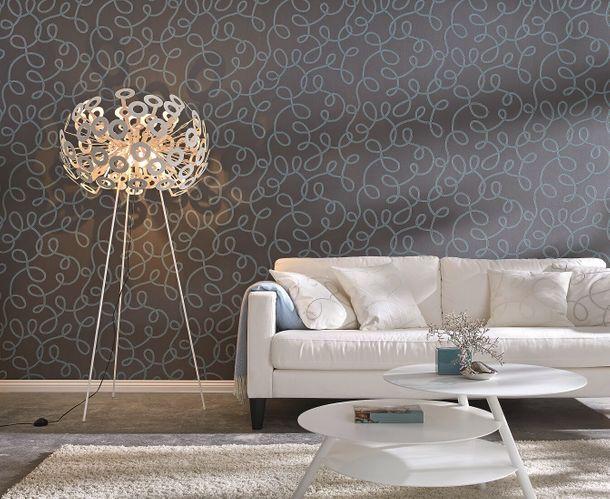 Wallpaper Rasch Home Vision graphic black turquoise 765328 online kaufen