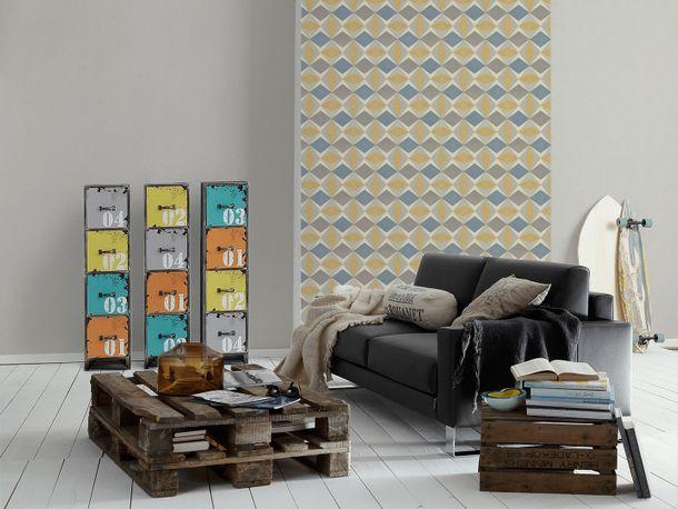Non-Woven Wallpaper plain texture grey beige 30526-7 online kaufen