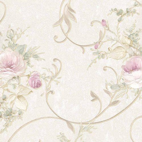 Vliestapete Floral Barock beige gold Glitzer 30420-2