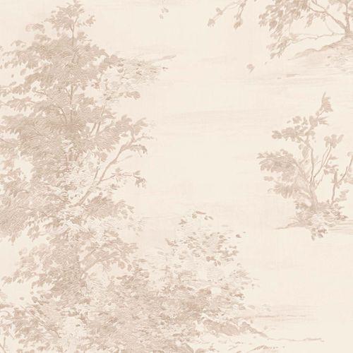 Non-woven wallpaper floral beige-grey 30429-1 online kaufen