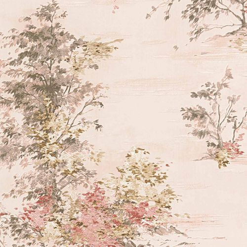 Non-woven wallpaper floral beige rose 30429-2
