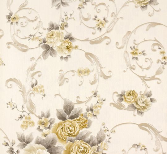 Wallpaper Romantica flower white gold AS 30647-4 online kaufen