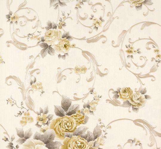 Wallpaper Romantica flower white gold AS 30647-4