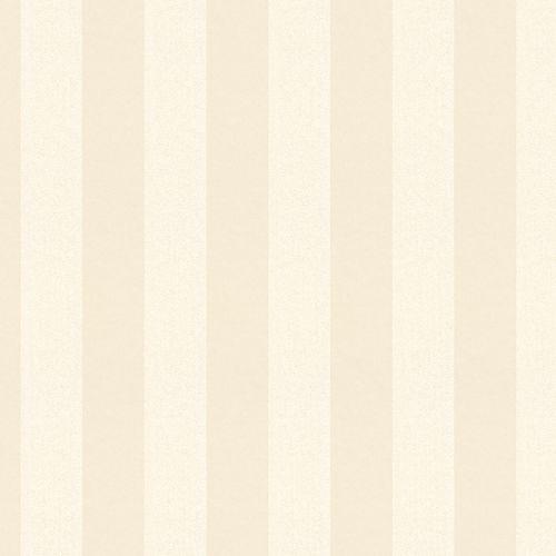 Non-woven wallpaper striped plain cream glitter 3121-12