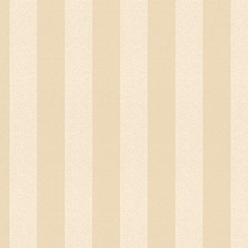 Non-woven wallpaper striped plain beige glitter 3121-43