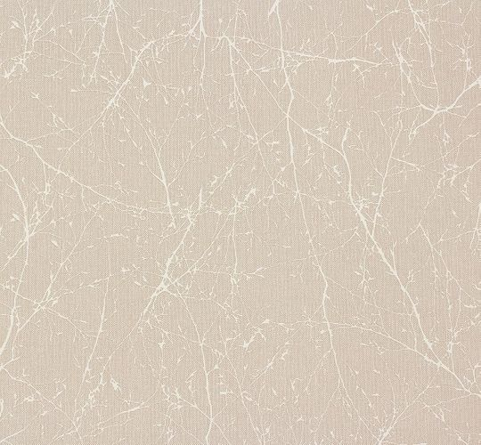 Wallpaper Elegance AS Creation nature beige white 30507-4