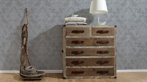 Wallpaper Elegance AS Creation ornaments grey white 30518-4 online kaufen