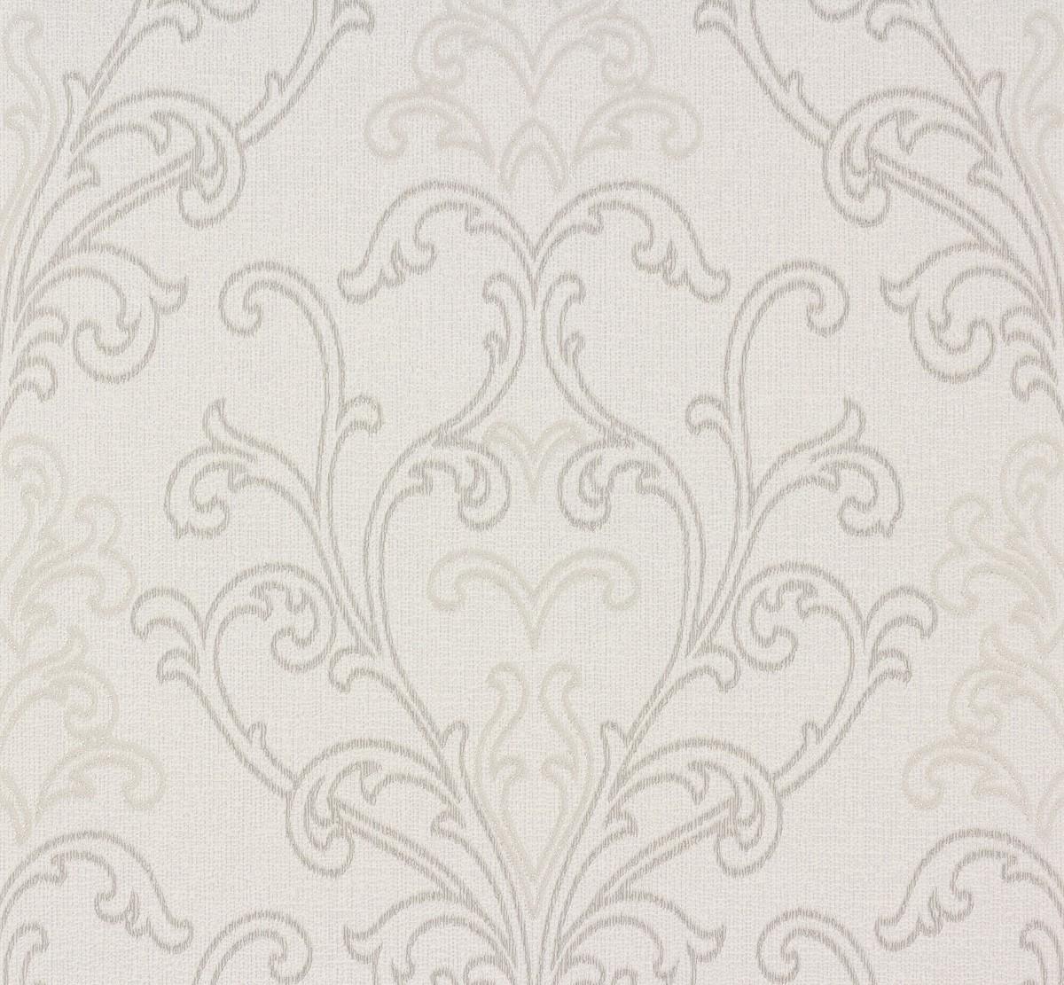 Tapete weiß ornamente  Tapete weiß grau Ornamente Voyage Erismann 6978-31