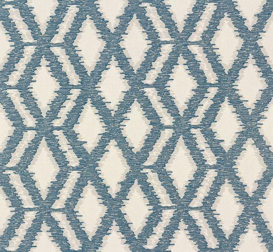 Non-woven wallpaper white blue graphics Voyage Erismann 6977-19