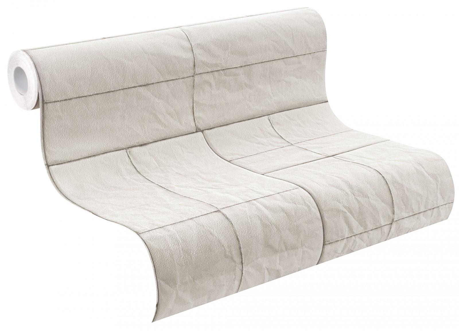 tapete rasch crispy paper fliesen grau wei 524307. Black Bedroom Furniture Sets. Home Design Ideas