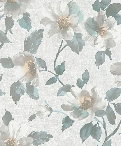 Wallpaper Erismann Make Up flower white green 6982-18 online kaufen