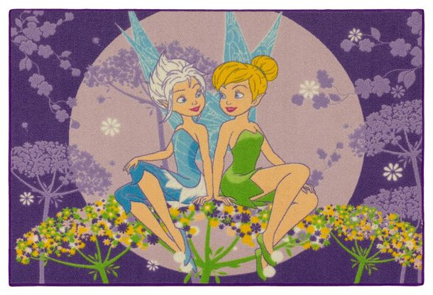 Tinkerbell carpet kids Disney girls rug pruple 95x133cm online kaufen