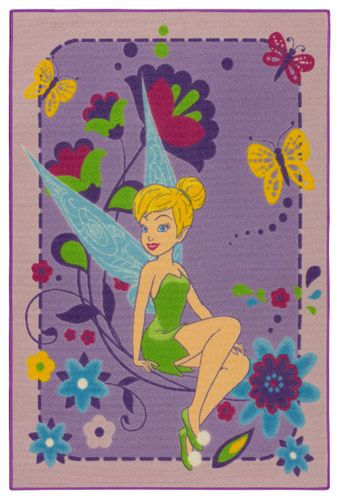 Disney kids carpet Tinkerbell purple girls fun rug 95x133cm online kaufen